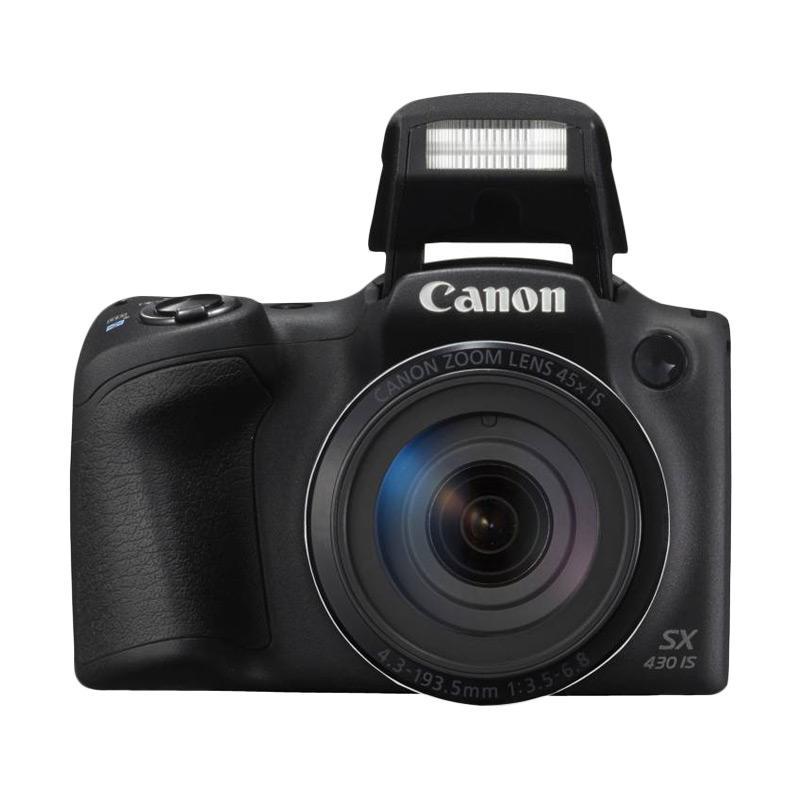 Canon Power Shot SX430 IS Kamera Prosumer - Hitam [20.5 MP] Free Memory Sony 8gb