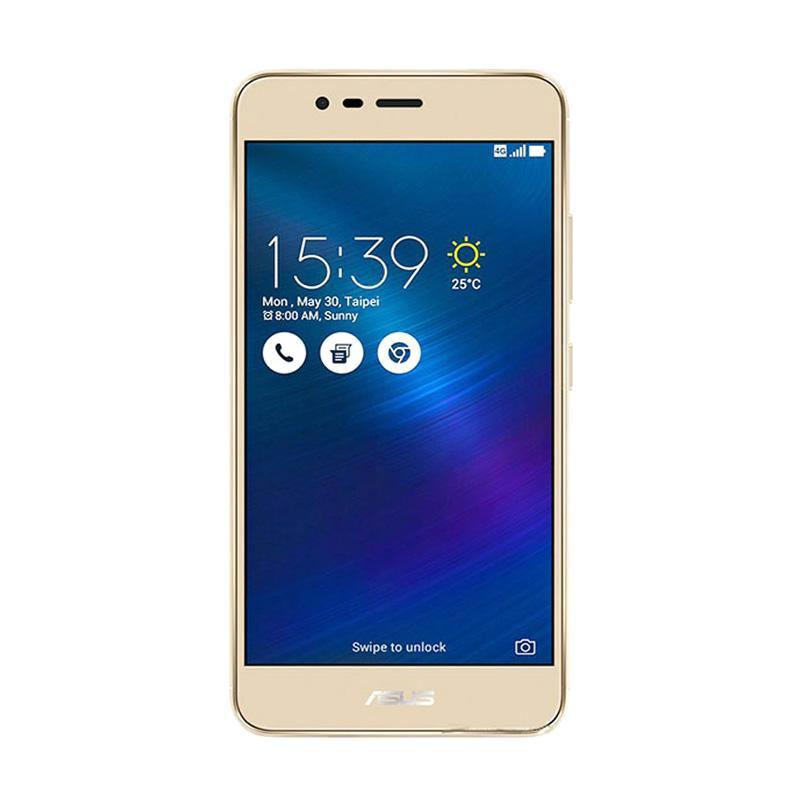 Asus ZenFone 3 Max ZC553KL Smartphone - Gold [32GB/3GB] FREE KUOTA 13 GB