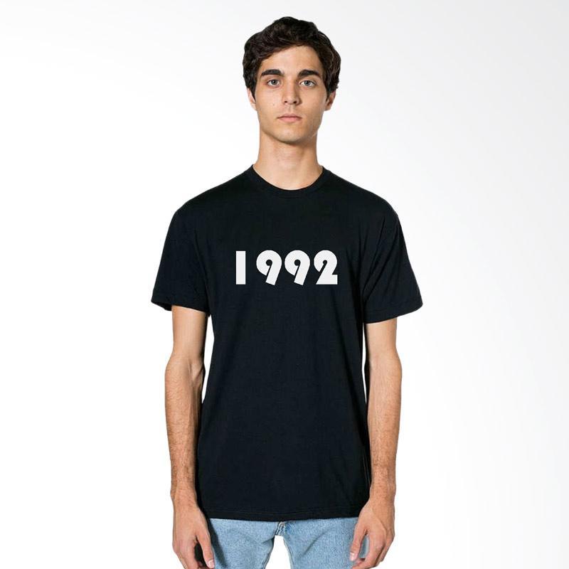 FRAW T-Shirt Kaos Pria - Black 26-17