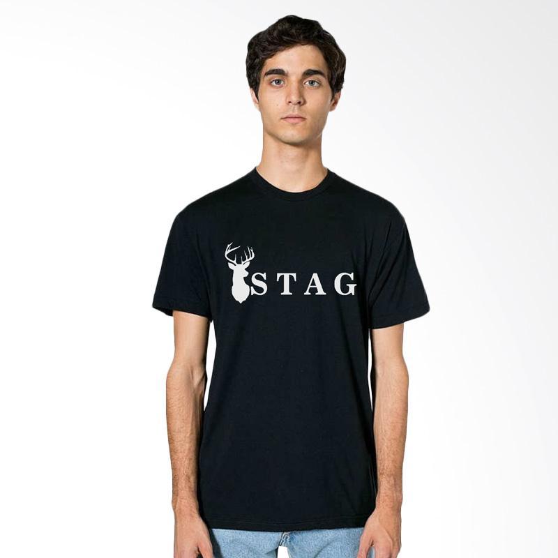 Fraw T-shirt Atasan Pria - Black 35-17