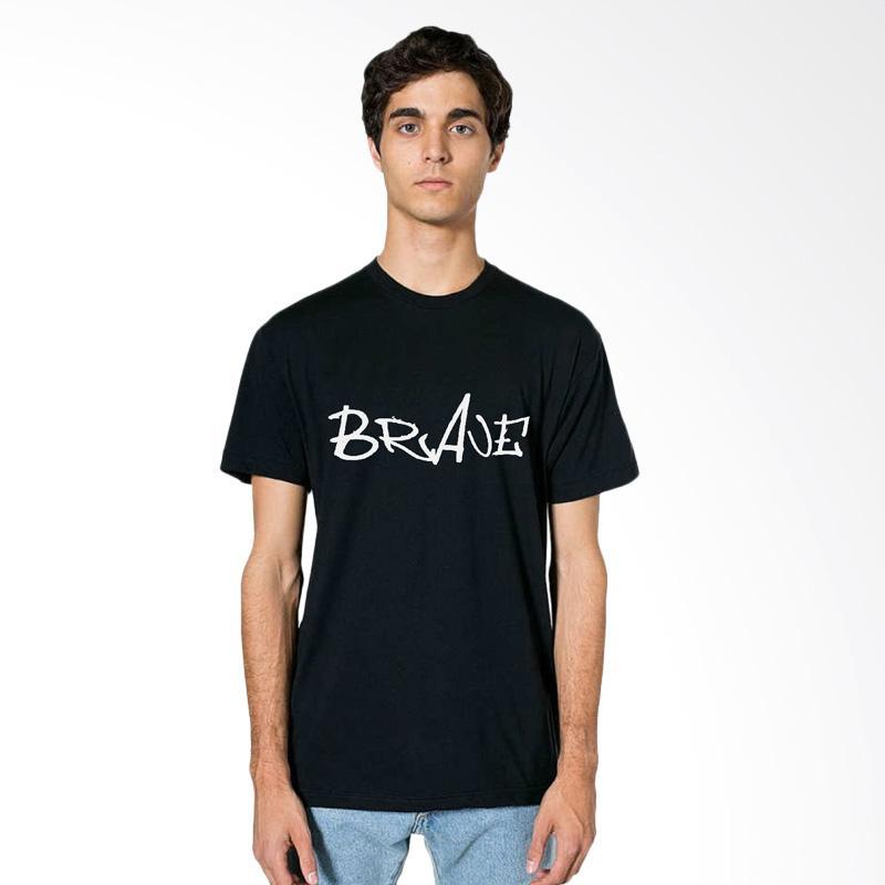 FRAW T-shirt Kaos Pria - Black 13-17