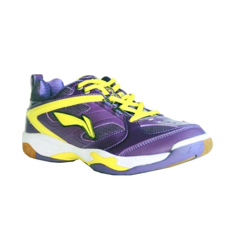 harga LINING Champion Sepatu Badminton - Purple AYTH075-2 Blibli.com
