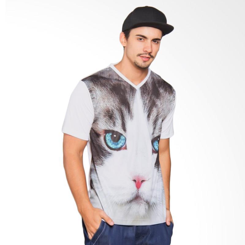 EpicMomo Cat1 T-Shirt Pria - White AD.00126