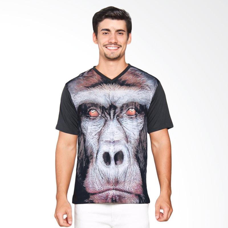 EpicMomo Monkey3 T-Shirt Pria - Black AD.00121
