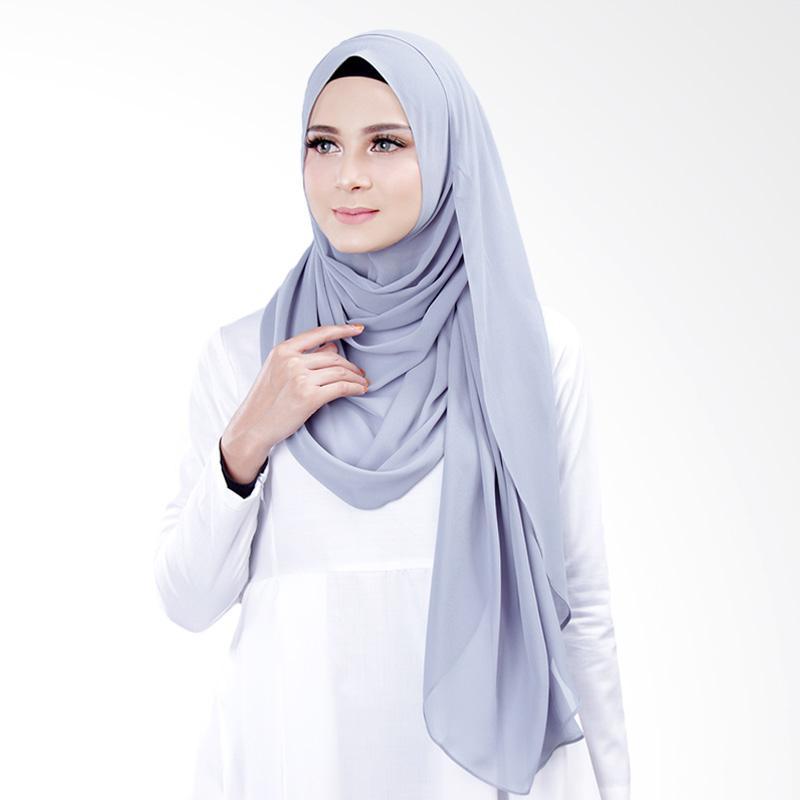 Cantik kerudung Bella Instant Shawl Hijab ��� Bluish Grey No.4