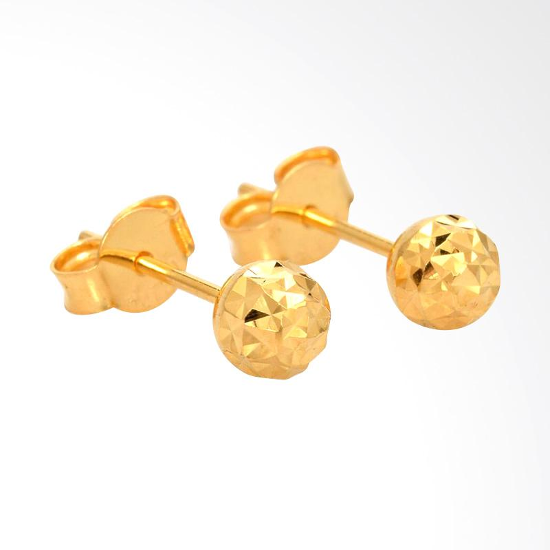 Tiaria Sparkling Ball Earring Anting Emas Perhiasan - Gold