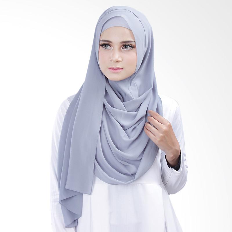Cantik kerudung Bella Slip In Hijab Instant - Bluish Grey No.7