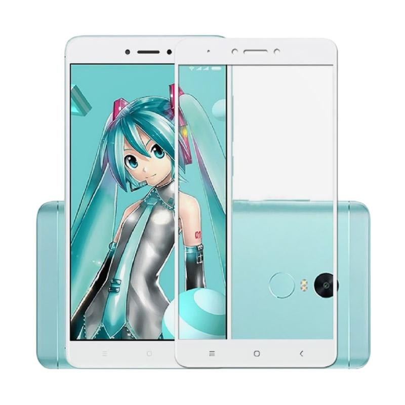 Tempered Glass [Front Only] Full Screen Protector for Xiaomi Redmi  4A - White