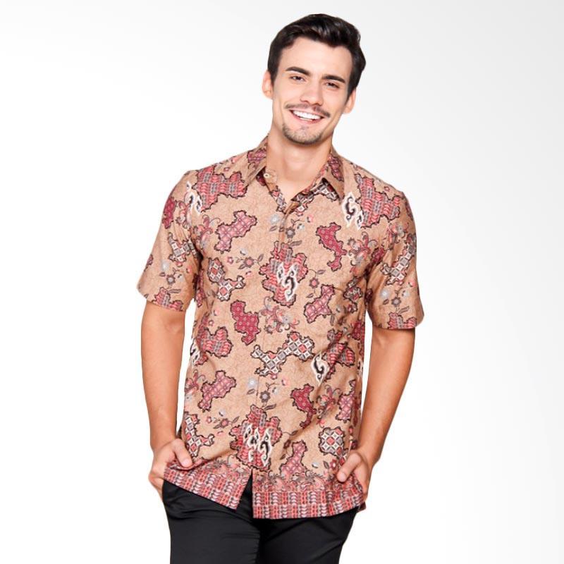 Batik Heritage Katun Kepulauan Slim Fit Atasan Pria - Merah