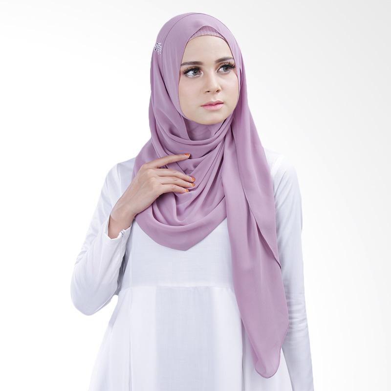 Cantik kerudung Bella Queen Hijab Instant - Dusty Purple No.8