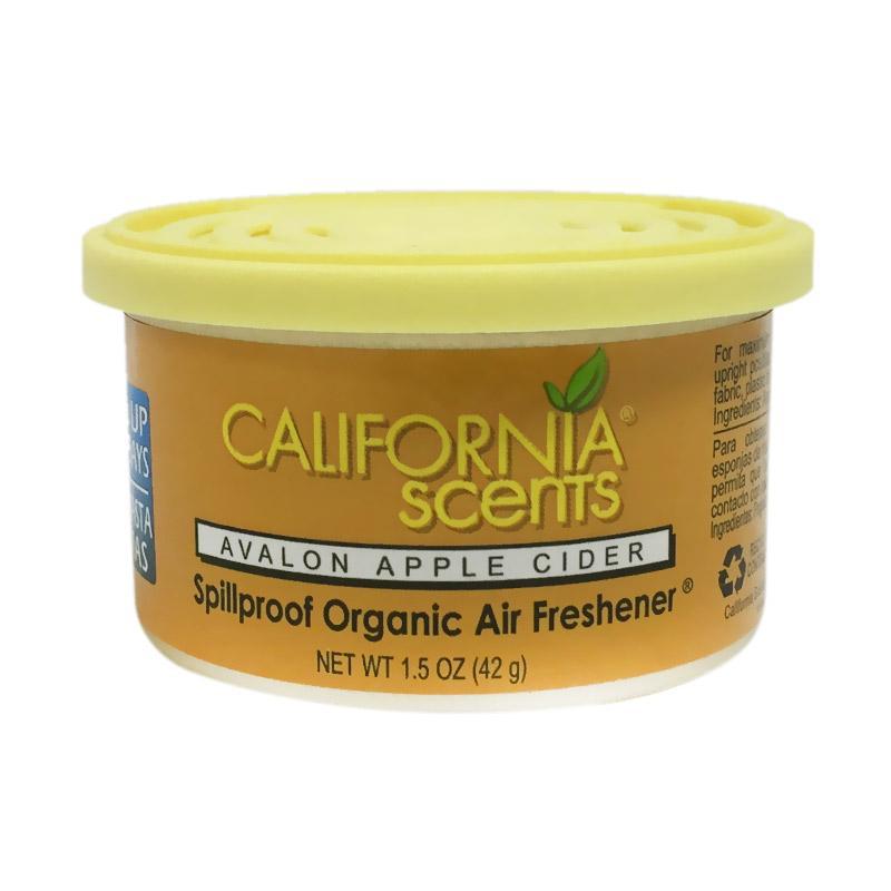 California Scents Avalon Apple Cider Spillproof Organic Car Air Freshener Parfum Mobil
