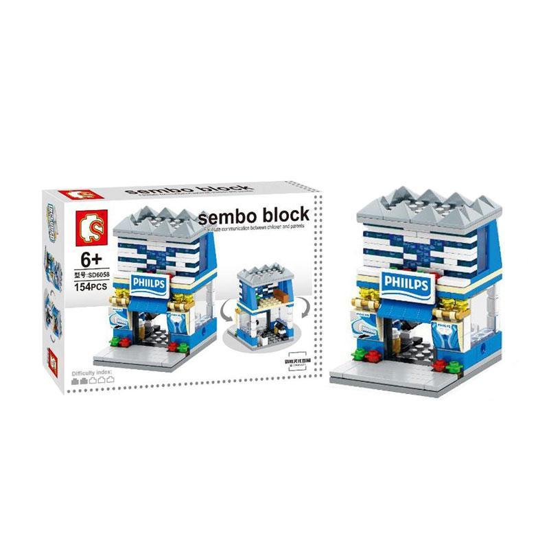 Sembo SD6058 Electric Shop Mainan Mini Blocks