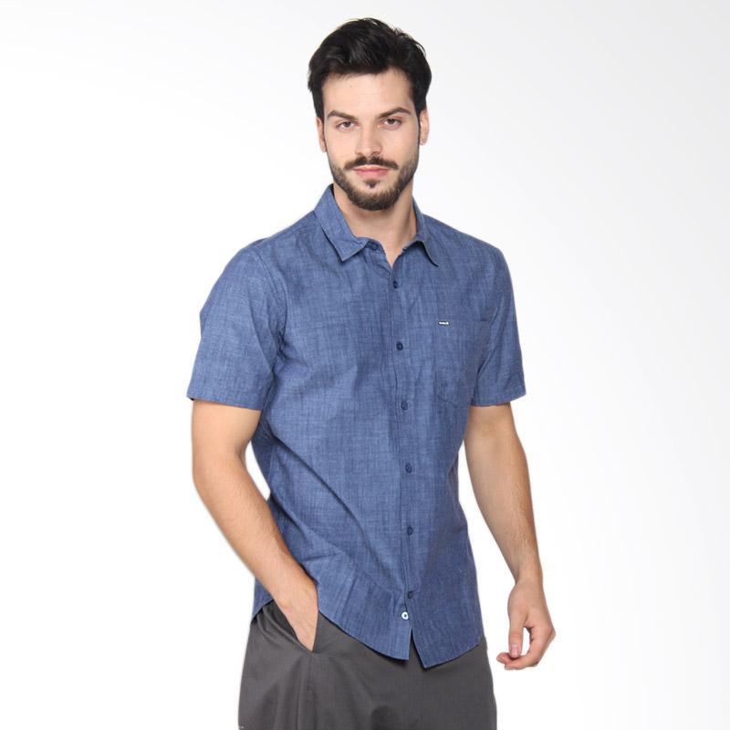 Hurley OO 3.0 Short Sleeve Shirt Kemeja Pria - Obsidian MVS0003780 45B