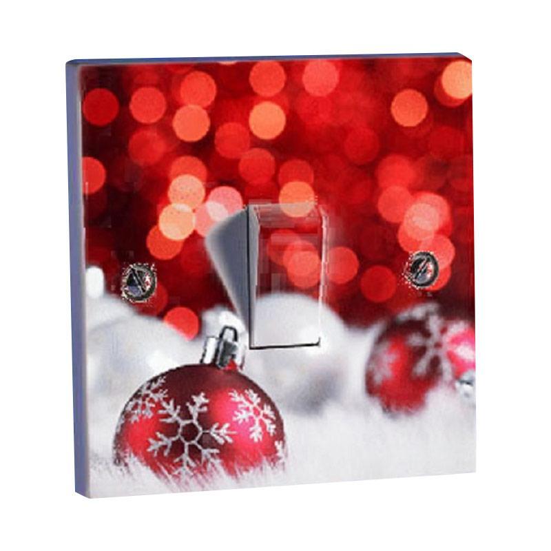 OEM Natal Red Bell Lonceng Christmas Saklar Lampu Sticker