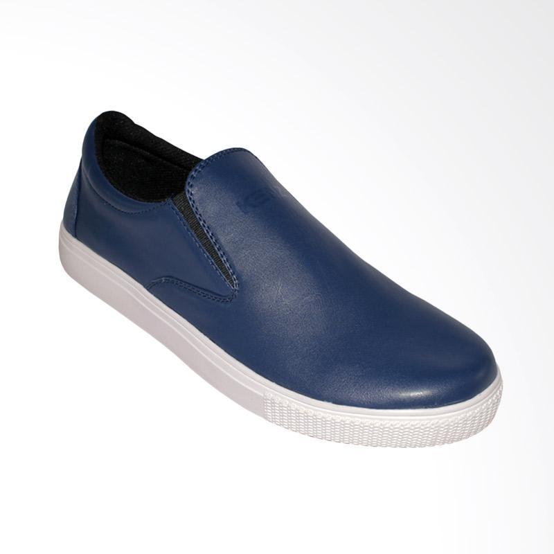 harga Kenz Retro Slipon Casual Sepatu Pria - Blue Navy Blibli.com