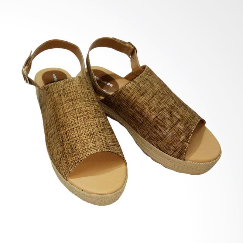 Aerilyn Wedges Daphnie Sepatu Wanita - Brown