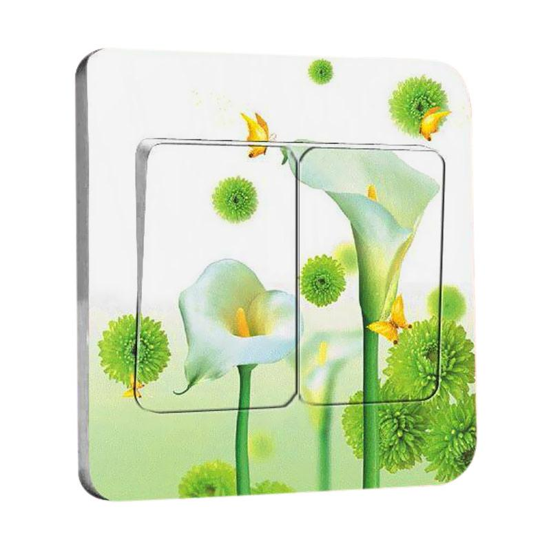OEM Motif Calla Flower Tombol Lampu Sticker
