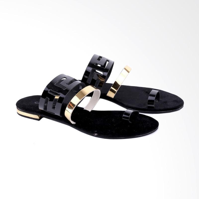 Garucci  GIA 8122 Flats Sandal Wanita - Black