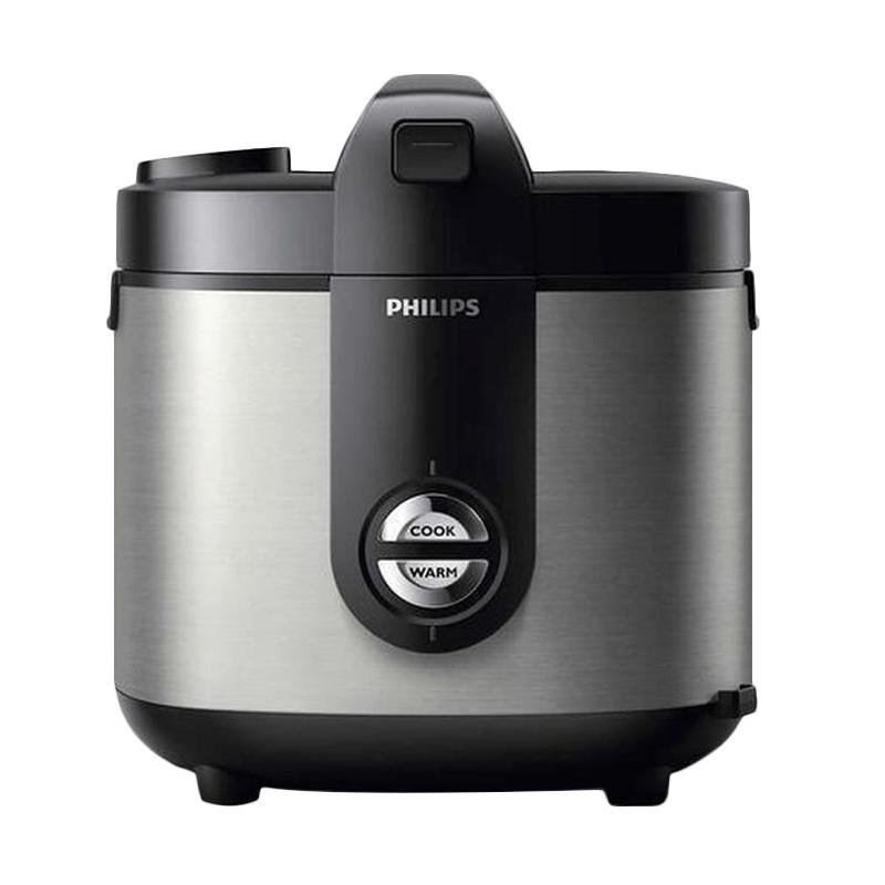 PHILIPS HD3128-33 Viva Collection Jar Rice Cooker - Silver [2 L]