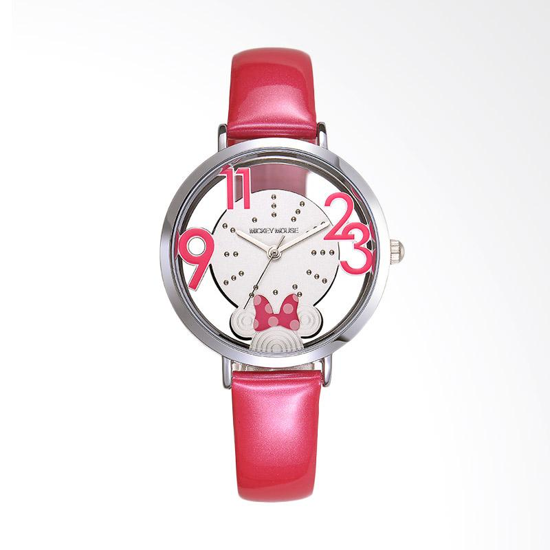 Disney MS11073-J Minnie Jam Tangan Wanita - Hot Pink