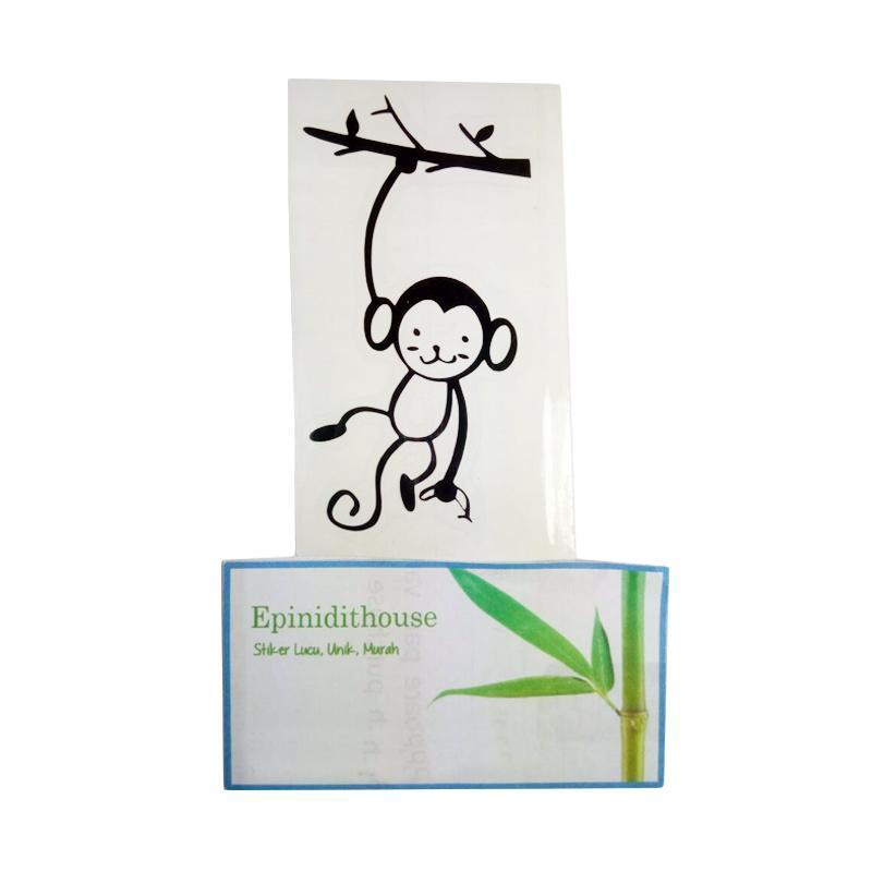 OEM Motif Monkey Monyet Dekorasi Tombol Lampu Saklar Wall Sticker - Hitam