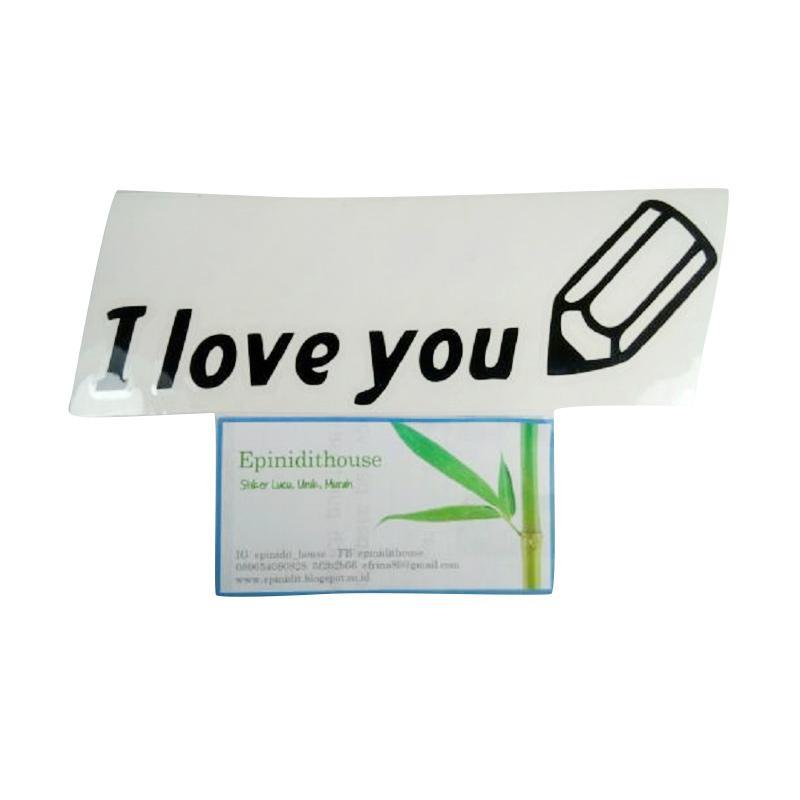 OEM Motif Tulisan I Love U Dekorasi Tombol Lampu Saklar Wall Sticker - Hitam