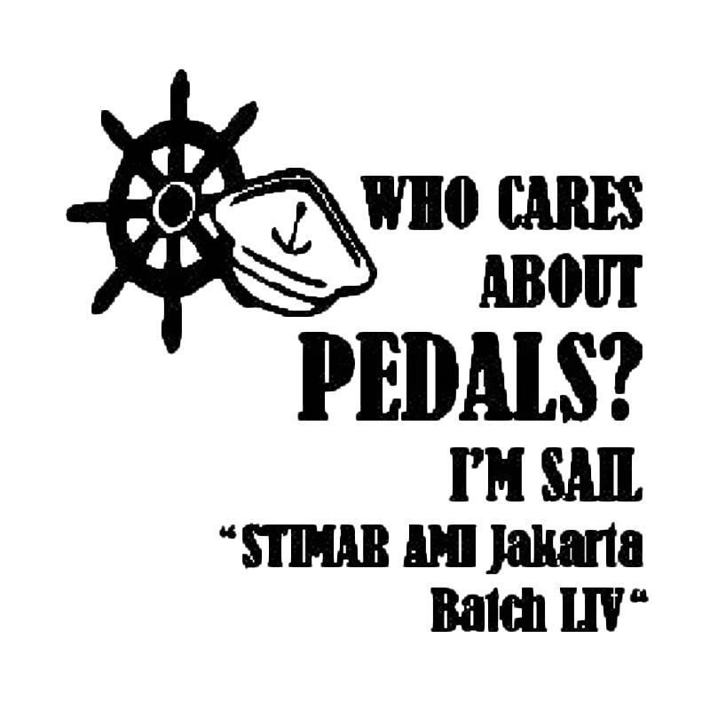 OEM Who Cares About Your Pedals I'm Sail Logo Custom Stiker