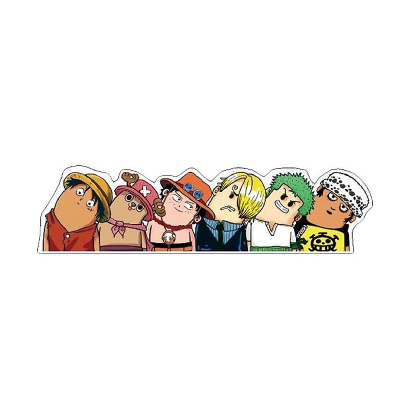 OEM One Piece Team Kepala Geleng Stiker Mobil dan Motor