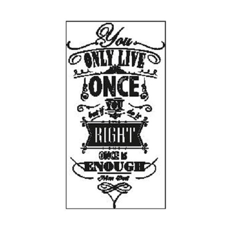 OEM Quotes You Only Live Once Wall Sticker Dekorasi Dinding