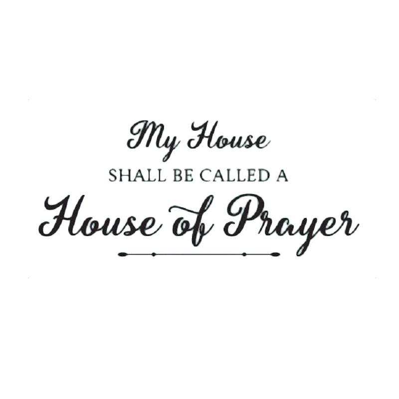 OEM House of Prayer Wall Sticker Dekorasi Dinding