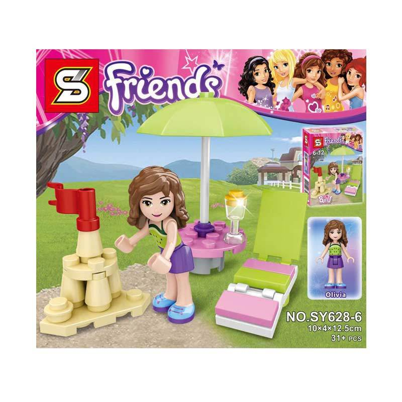 Sy 628 6 Girl Olivia Mini Figure Mainan Blok & Puzzle