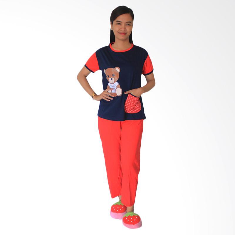 Aily SL033 Setelan Baju Tidur Wanita - Navy