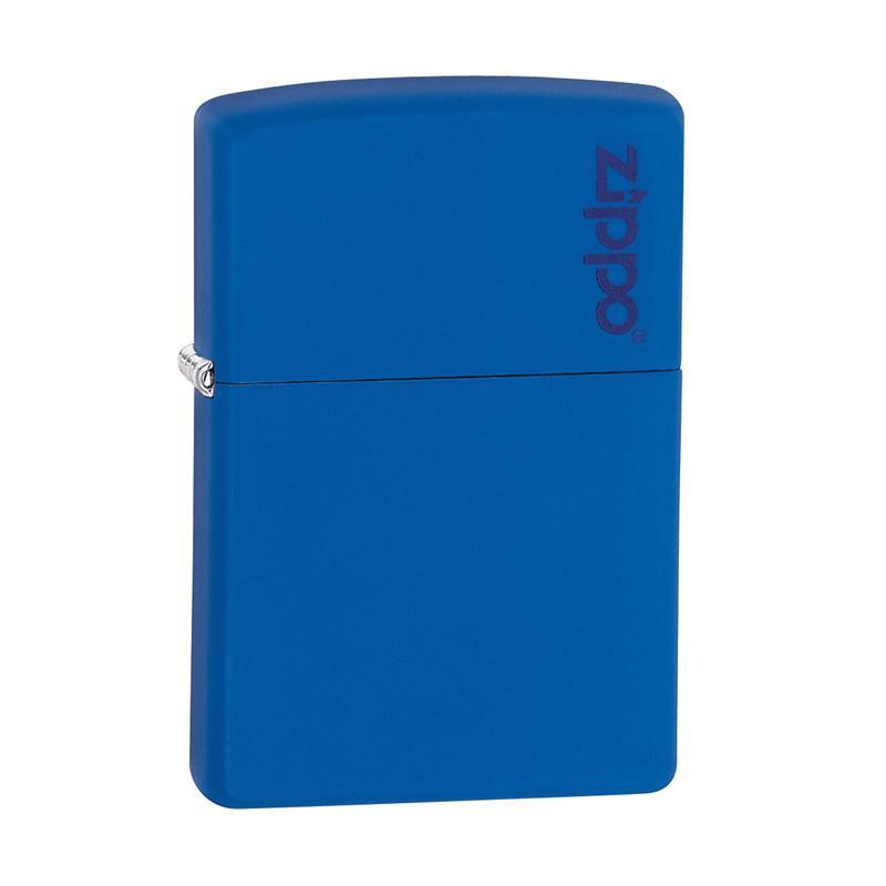 Zippo Royal Logo Pocket Lighter - Blue Matte