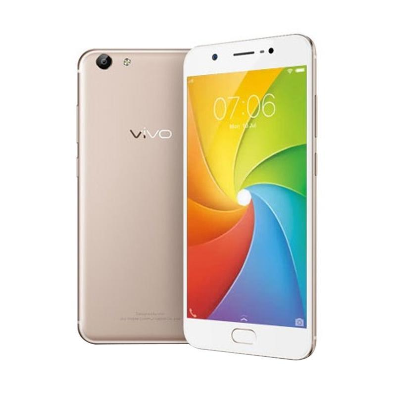 Vivo Y69 Smartphone - Crown Gold [32GB/3GB] Free Original Tupperware 750 Mililiter & I-Ring