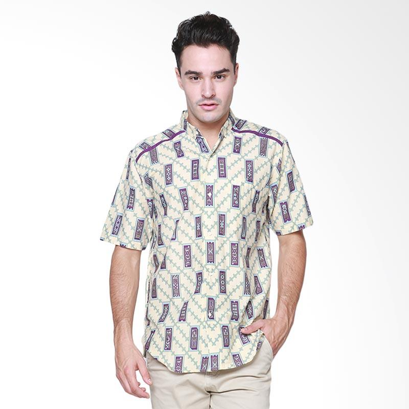 Days by Danarhadi Men Kerton Sinebar High Neck Baju Batik Pria - Cream
