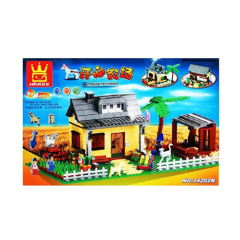 Wange 34202N Happy Farmland Mainan Blok & Puzzle