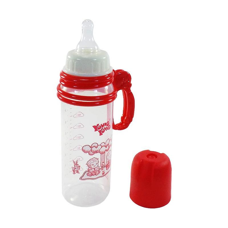 YOUNG YOUNG Botol Susu IL-809-B Baby Bottle Handle BPA Free - Merah