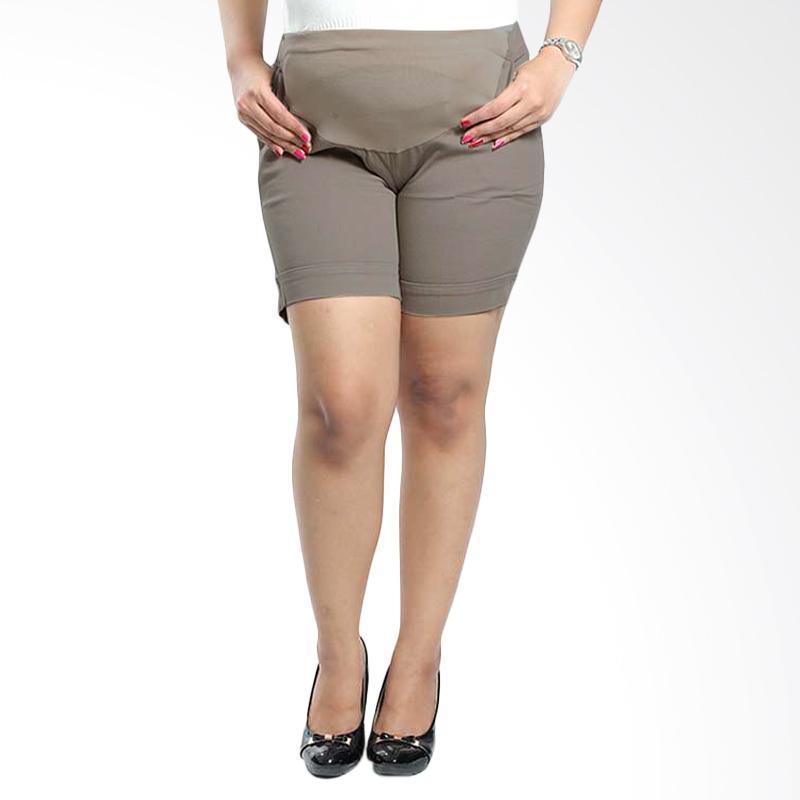 Miracle Online Shop Celana Hamil Pendek Hotpants Clarisa - Abu