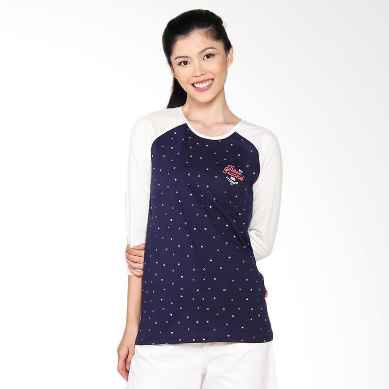 3 Second Ladies Tshirt 0309 103091722 Atasan Wanita - Cream