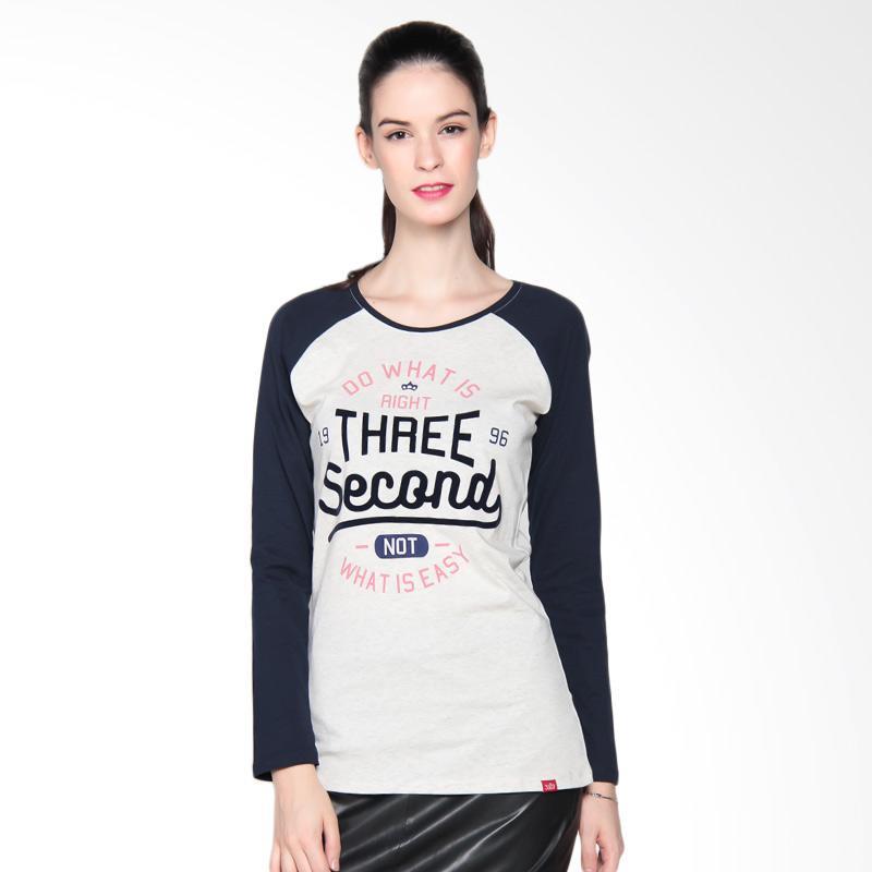 3 Second Ladies 122081722 Tshirt 3008 Kaos Wanita - Blue