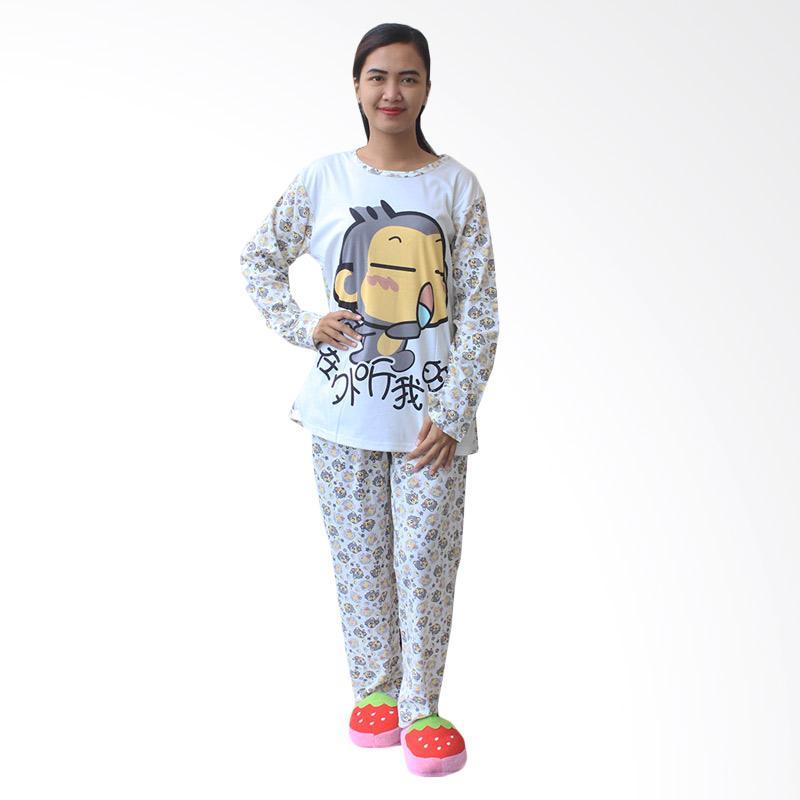 Aily 1181 Setelan Baju Tidur Wanita - Cream