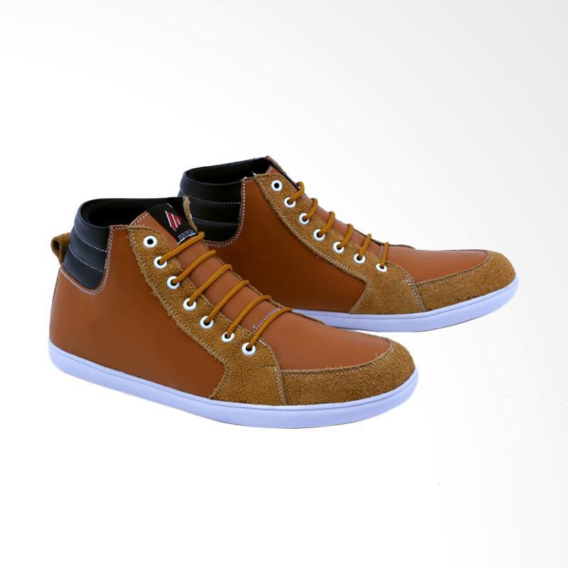 Garsel Sneakers Shoes Pria - Tan GDF 1013