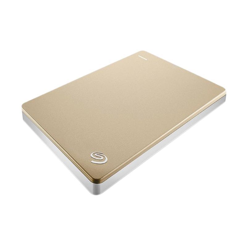 Seagate Backup Plus Slim Portable Hard Disk Eksternal - Gold [2 TB/ USB 3.0]