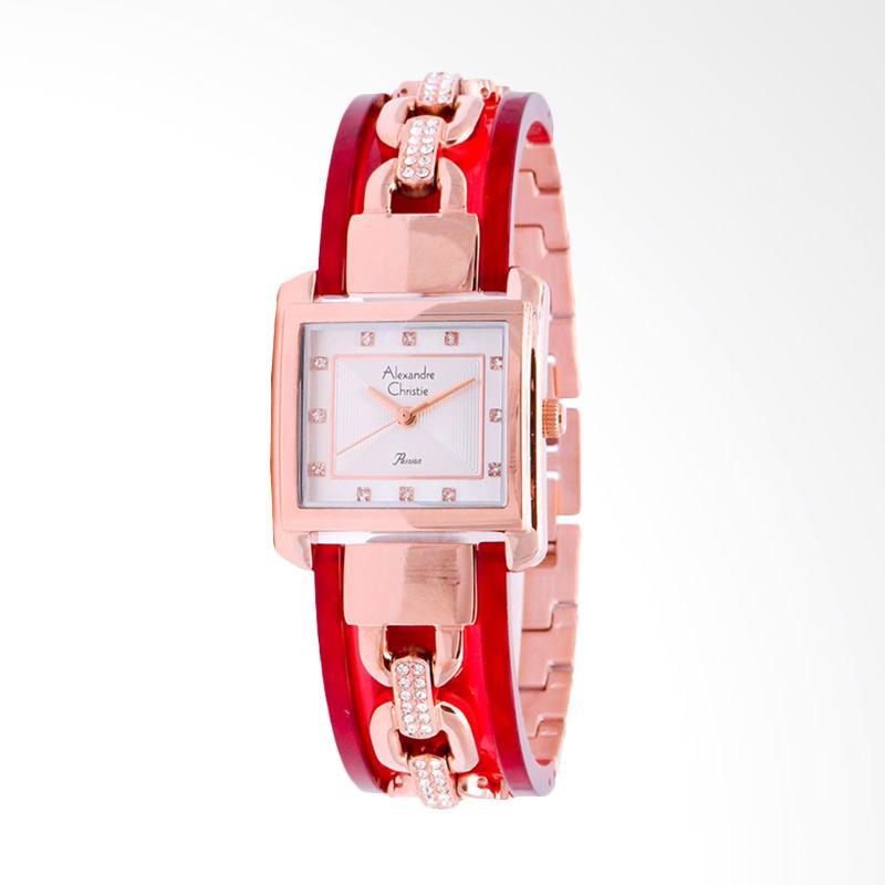 Alexandre Christie ACF-2569-LHBRGSLRE Women Sport White Dial Stainless Steel Jam Tangan Wanita - Red Rose Gold