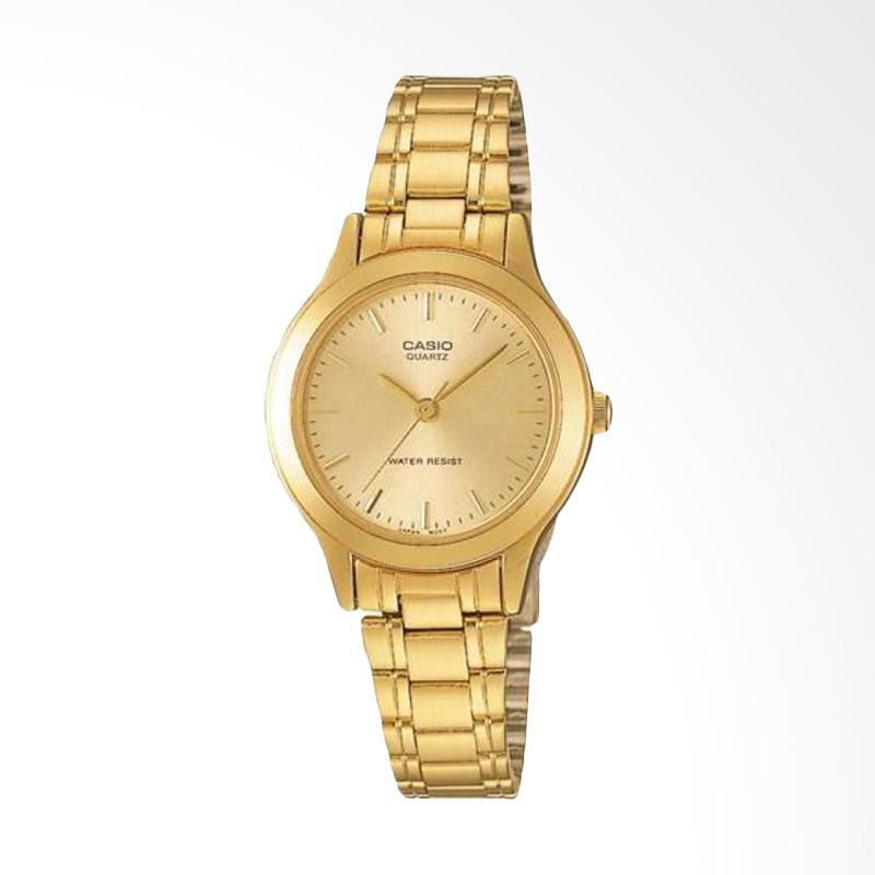 CASIO LTP-1128N-9ARDF Enticer Ladies Stainless Steel Jam Tangan Wanita - Gold