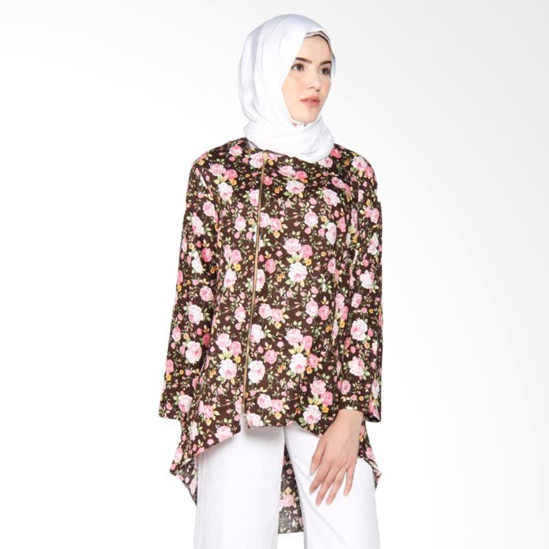Rauza Rauza Wardah Top Blouse Muslim Wanita - Coklat