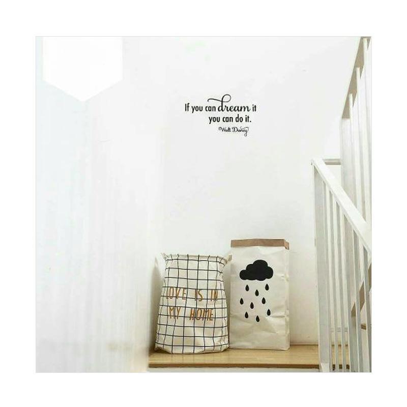 OEM Kata Motivasi Quote Walt Disney Wall Sticker Dekorasi Dinding