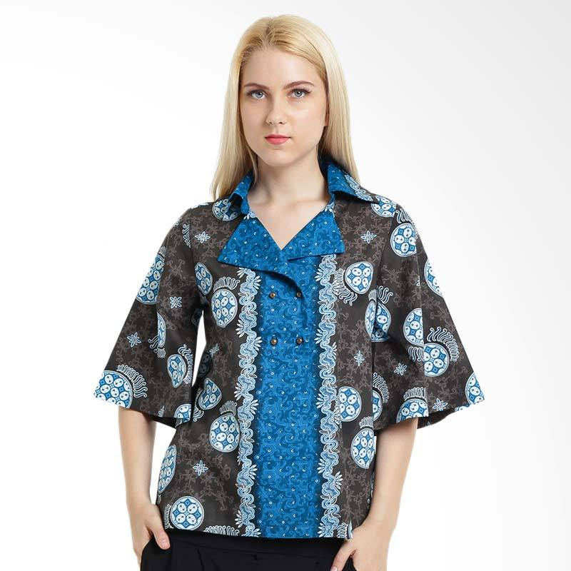 A&D Fashion MS 779 Ladies Batik Print - Blue