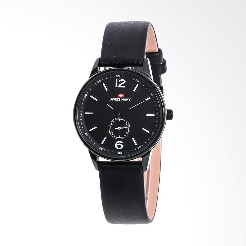 Swiss Navy 8305LABBKBK Leather Strap Women Jam Tangan Wanita - Black
