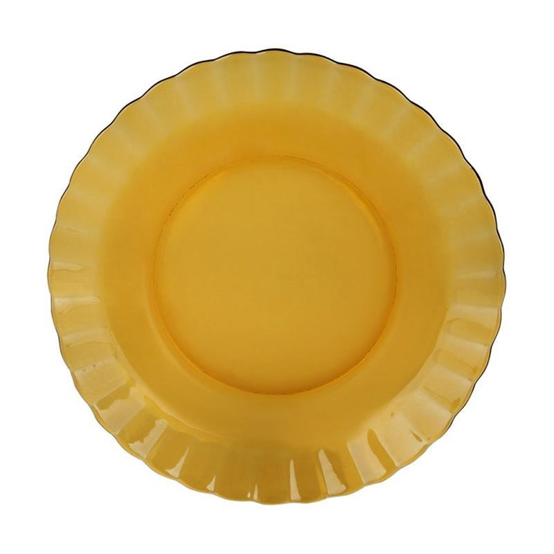 Duralex Paris Amber Soup Plate Set Piring [23 cm/6 pcs]